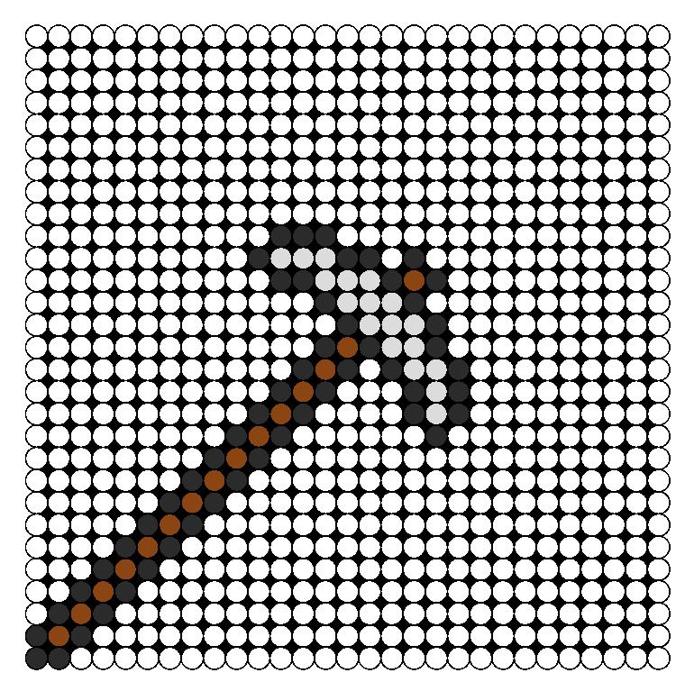 Terraria Silver Pickaxe Perler Bead Pattern / Bead Sprite