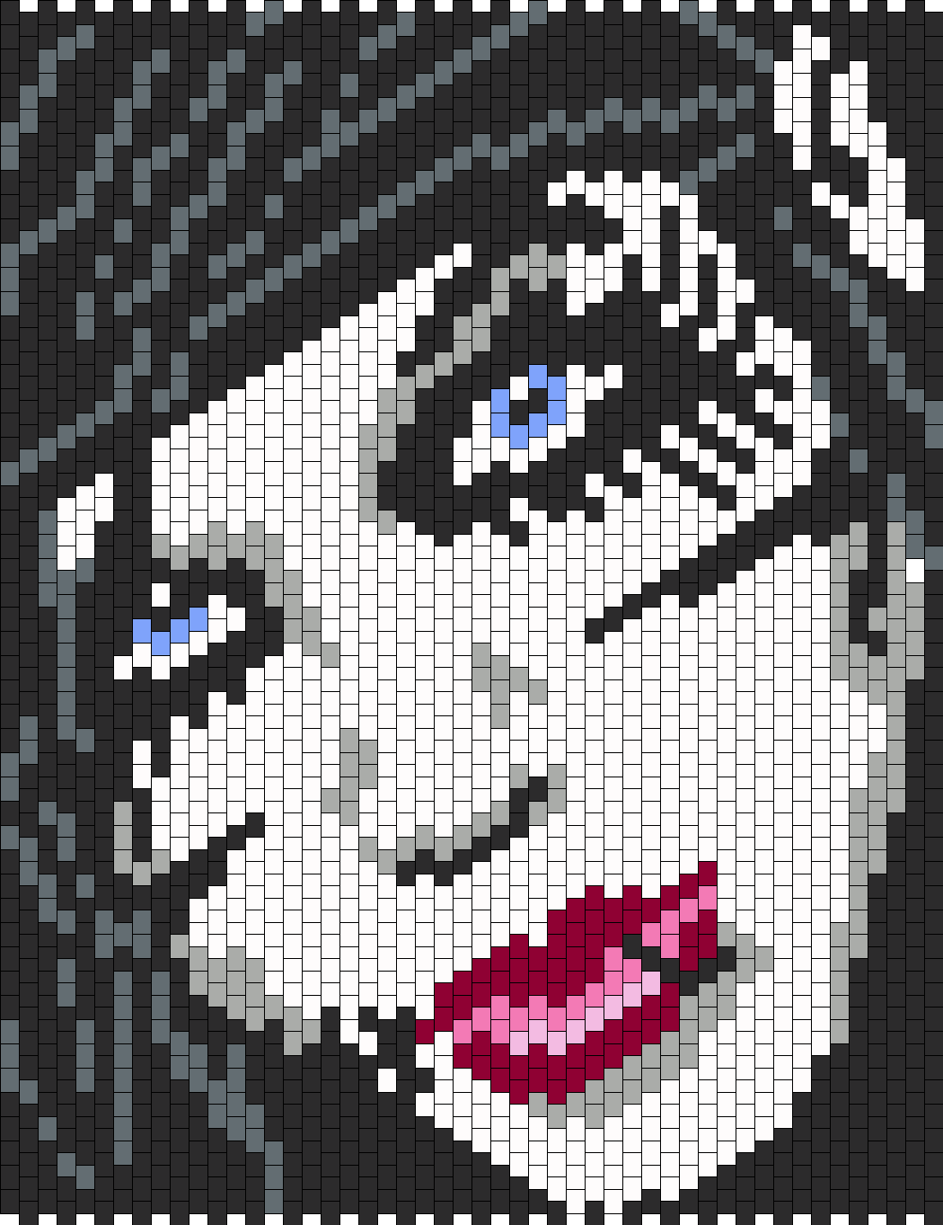 Andy Biersack From Black Veil Brides Bead Pattern : Peyote Bead ...