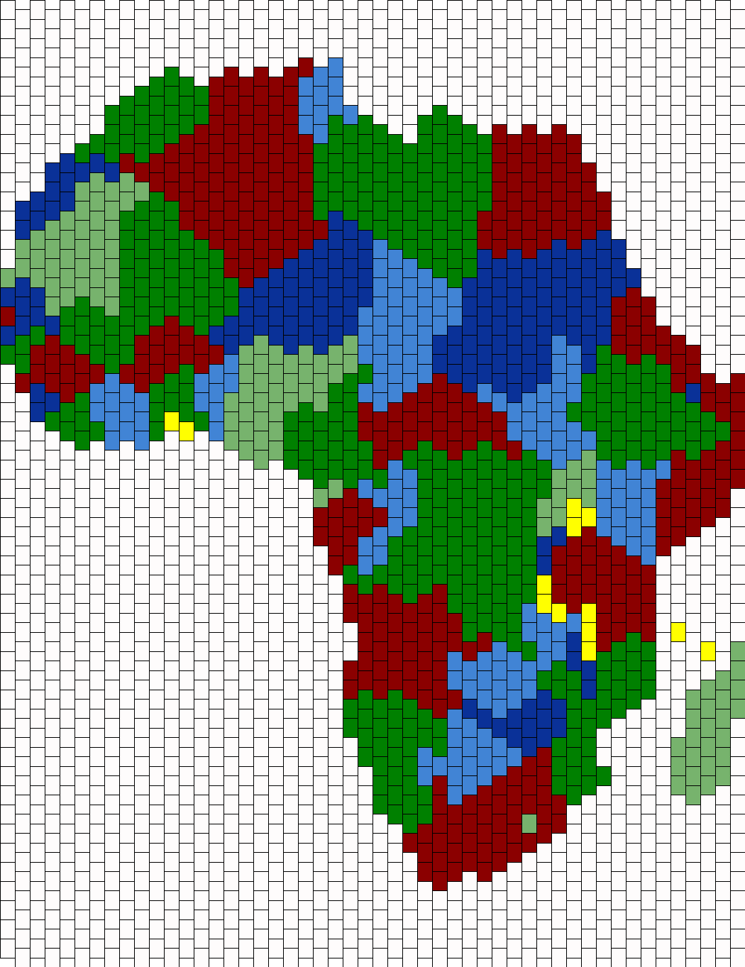Map Of Africa Bead Pattern