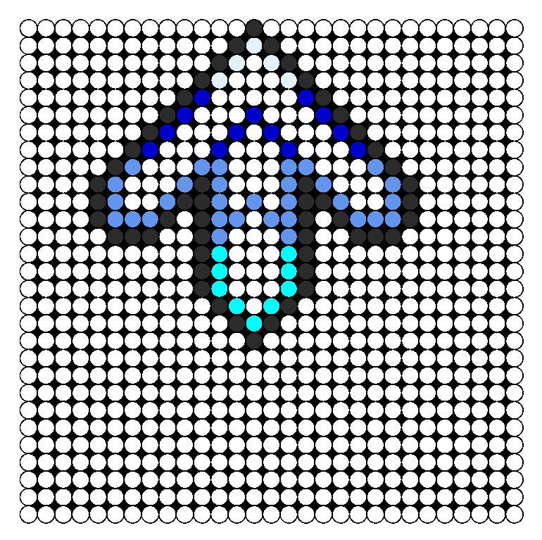 Dance Dance Revolution Arrow Blue