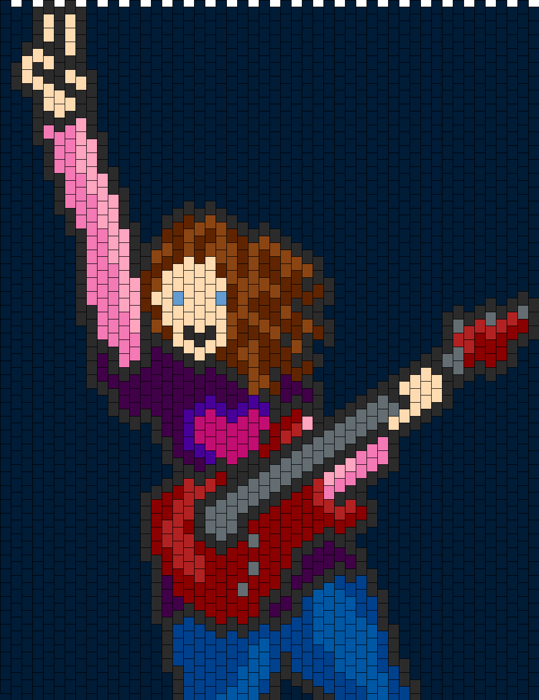 Rock Girl Bead Pattern