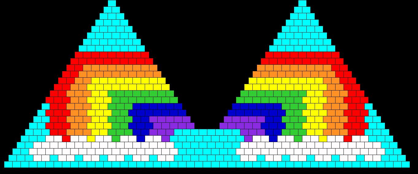 Rainbow Kandi Bra