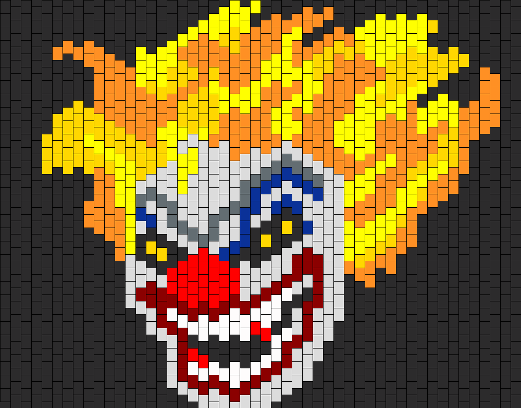 Clown Flame Hair