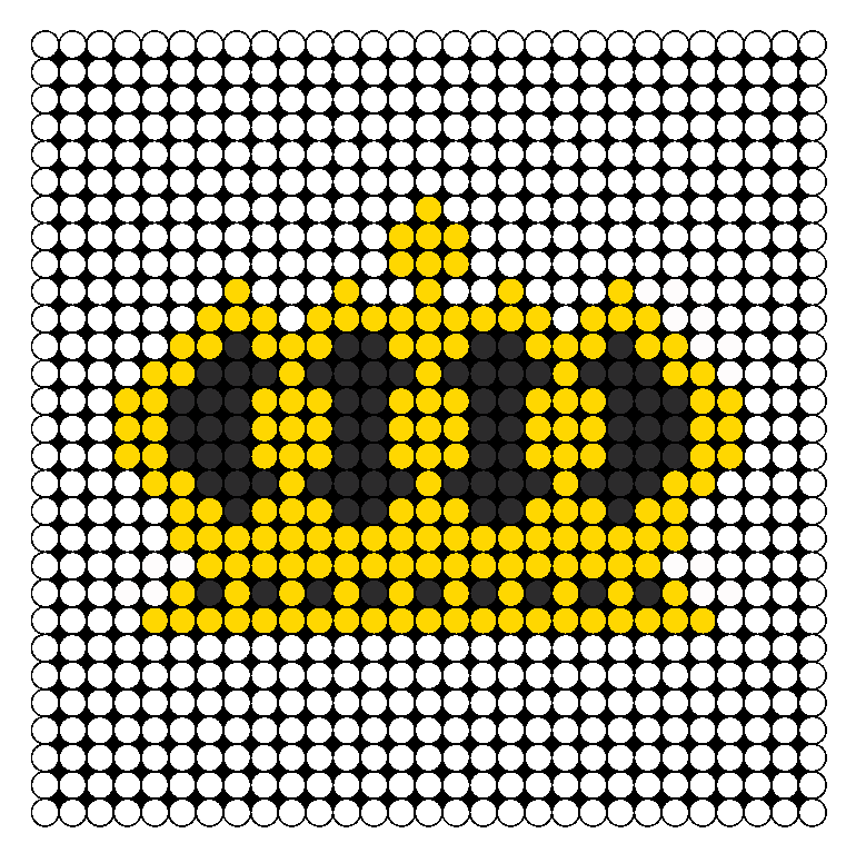 Crown 2 Perler Bead Pattern / Bead Sprite