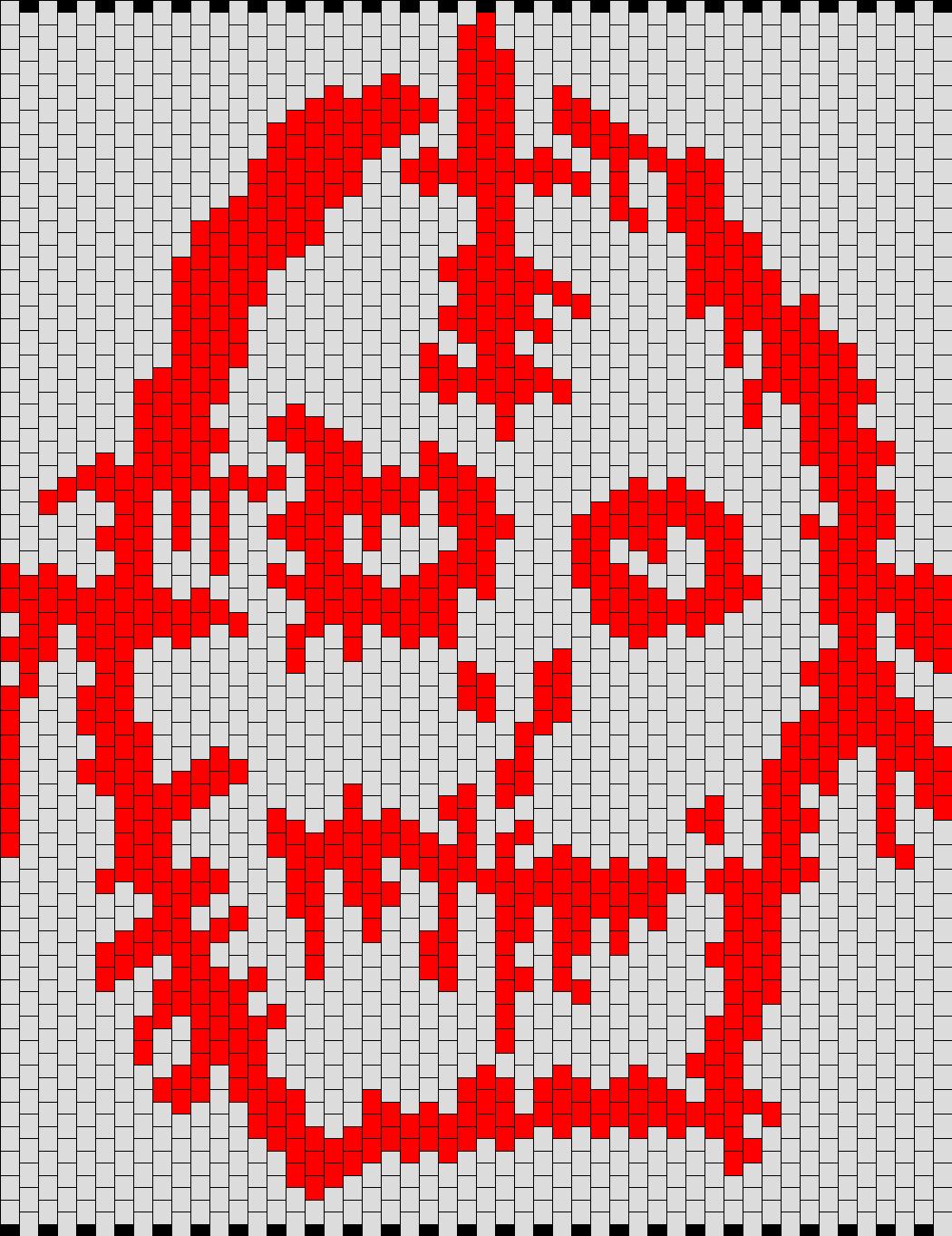 American Horror Story  Asylum Bloody Face Logo Bead Pattern