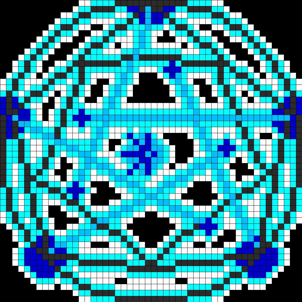 Human Transmutation Circle Fma Perler Bead Pattern / Bead Sprite