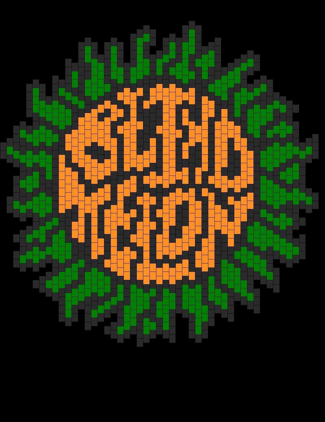 Blind Melon Sunflower Logo Bead Pattern