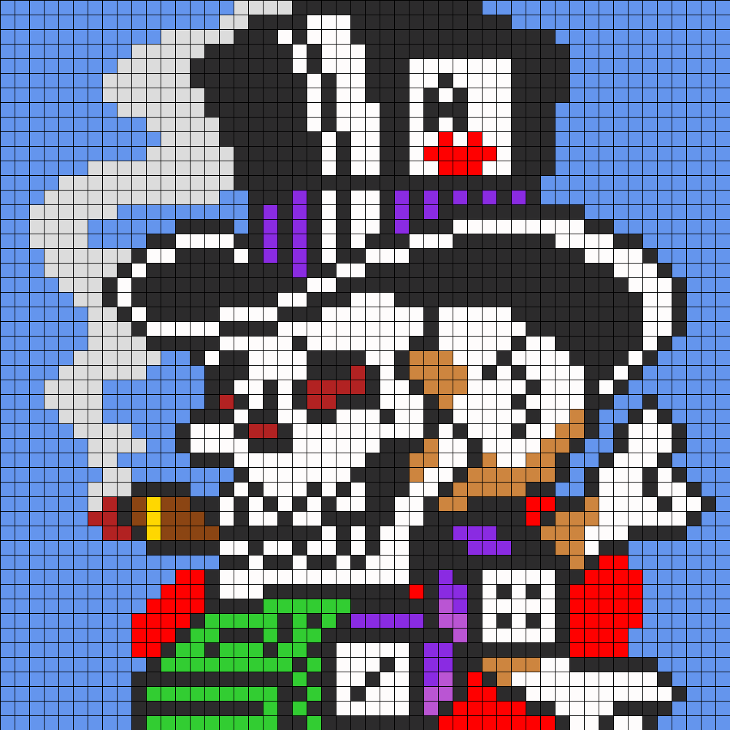Ed Hardy Skull In Top Hat For Perler