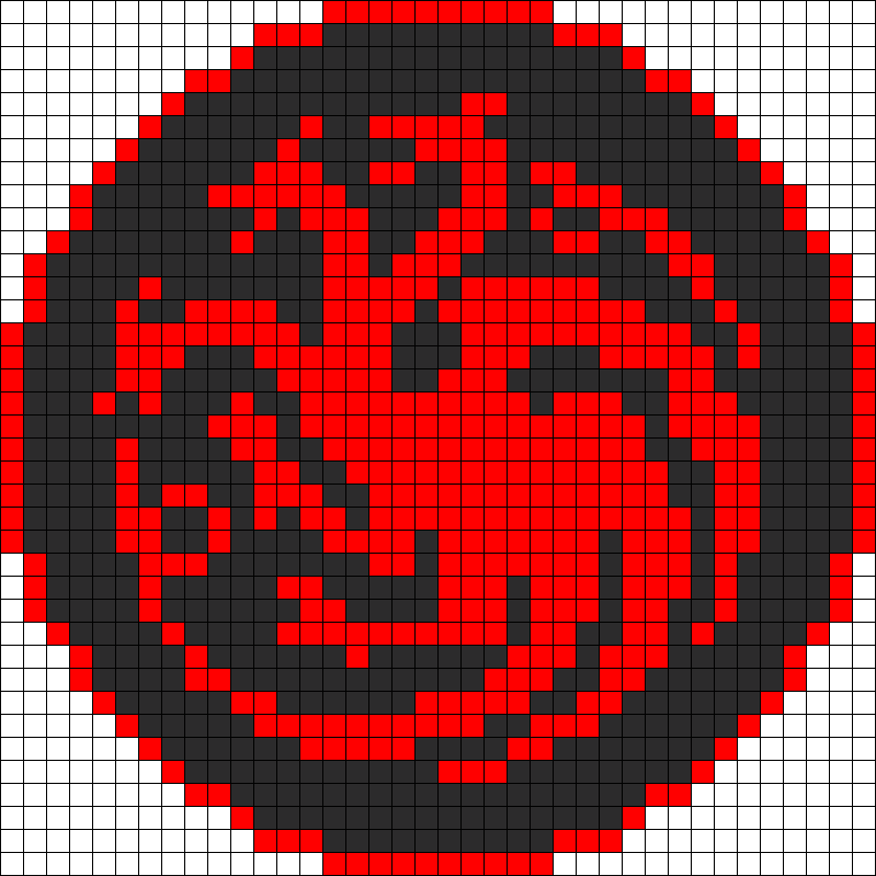 Game Of Thrones Targaryen Sigil Perler Bead Pattern / Bead Sprite