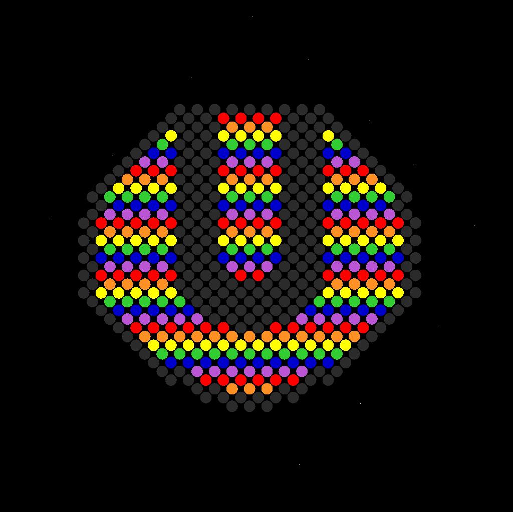 Ultra Rainbow Perler Bead Pattern / Bead Sprite