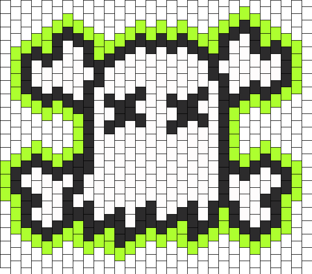 Ghost Town Logo Bead Pattern