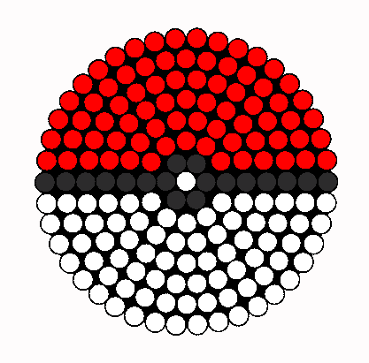 Perler Beads Pokemon Ball Patterns pokeball kandi drink coaster perler ... Ultra Ball Sprite