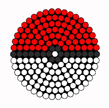 Pokeball Kandi Drink Coaster Perler Bead Pattern / Bead Sprite