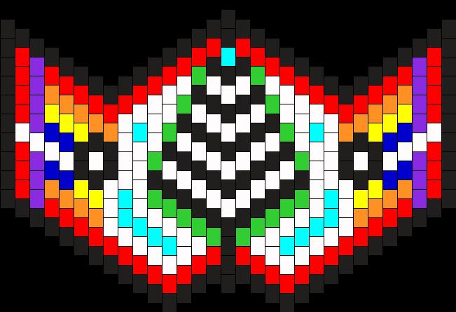 MultiColored Kandi MaSk Bead Pattern