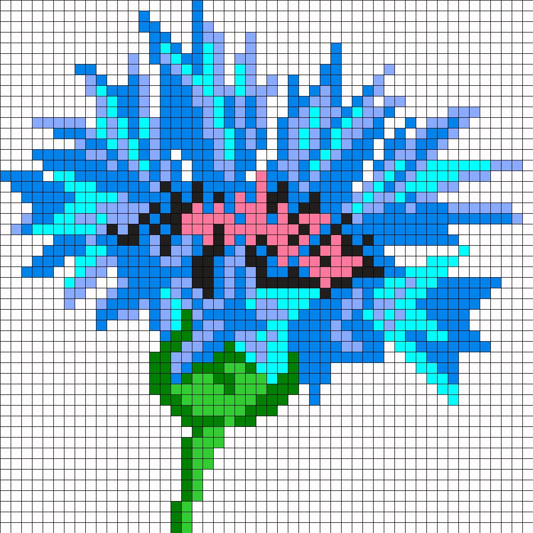 Flower Perler Bead Pattern / Bead Sprite