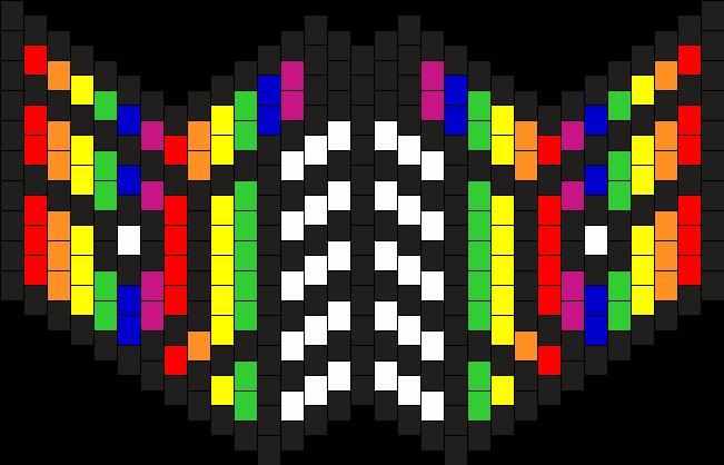 Rainbow Half Face