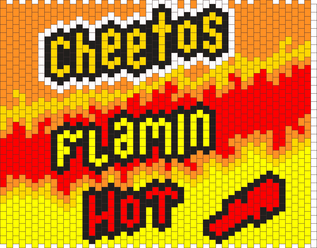 Flamin Hot Cheetos Pannel  Bead Pattern