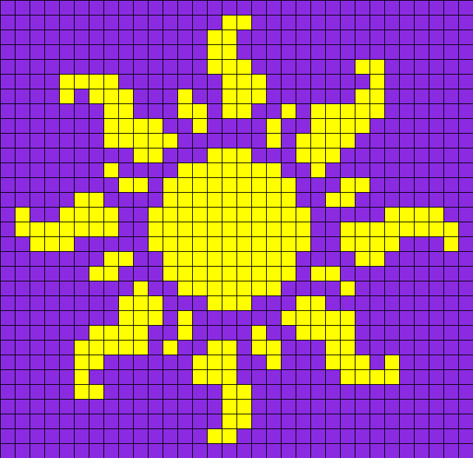 Sun From Tangled Perler Bead Pattern / Bead Sprite