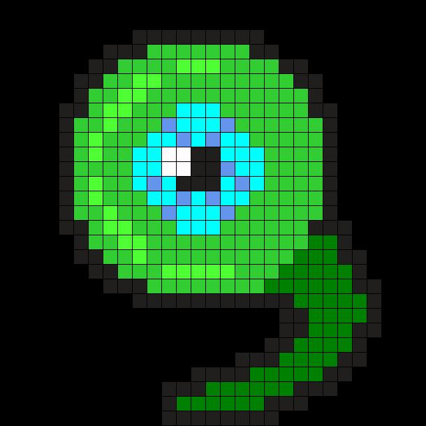 SepticEyeSame Perler Bead Pattern / Bead Sprite