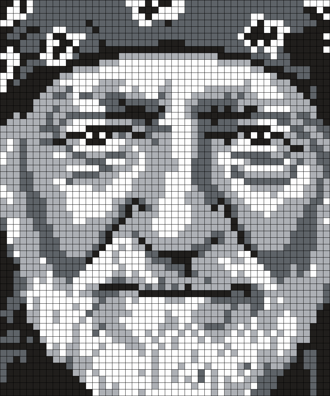 Willie Nelson (Square) Perler Bead Pattern / Bead Sprite