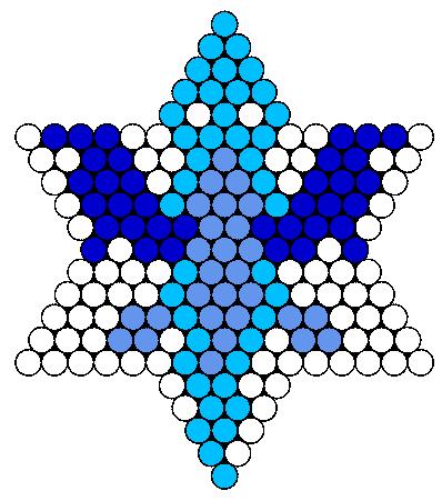Ice Dragon  Perler Bead Pattern / Bead Sprite