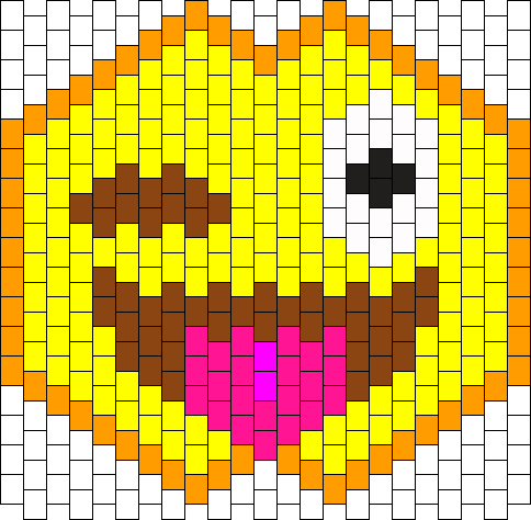 ONE EYE EMOJI Kandi Mask