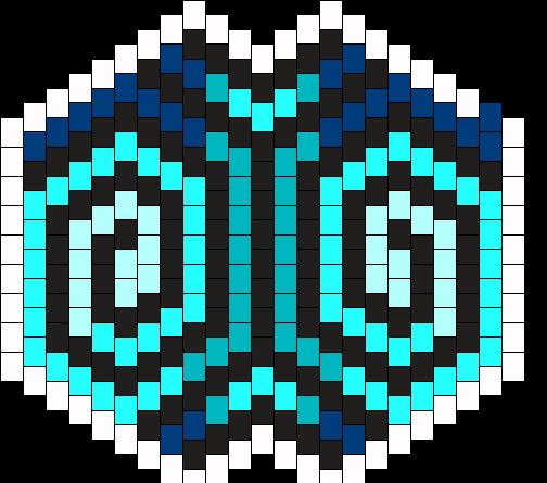 Blue Swirl Mask