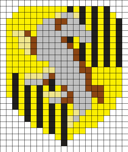 Hufflepuff Crest Perler Bead Pattern / Bead Sprite