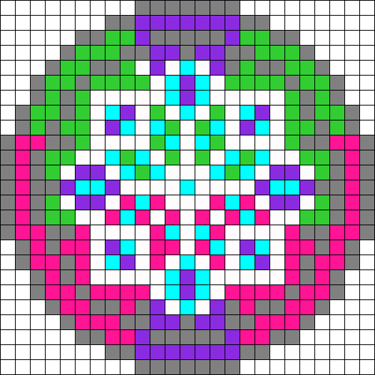 Grey Dream Catcher Perler Bead Pattern / Bead Sprite
