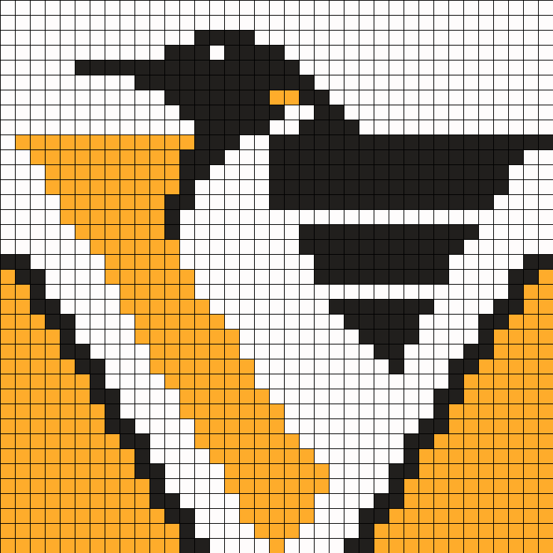 Pittsburg Penguins Hockey Perler Bead Pattern / Bead Sprite