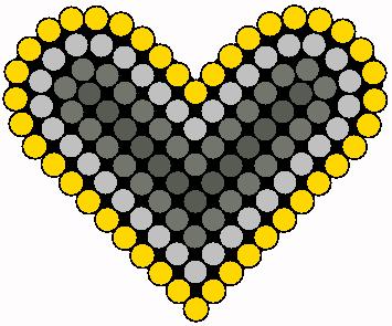 Heart 2 Perler Bead Pattern / Bead Sprite