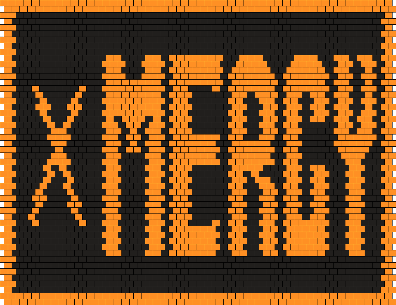 Undertale MERCY Button Bead Pattern