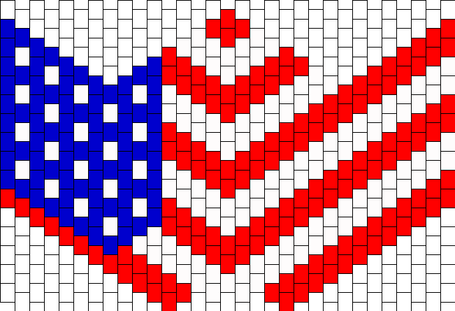 American Flag Mask Bead Pattern