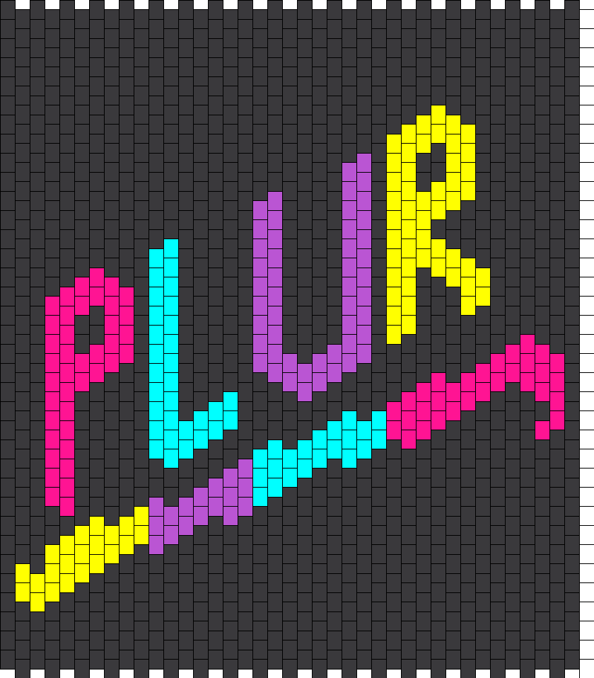PLUR Purse Bead Pattern