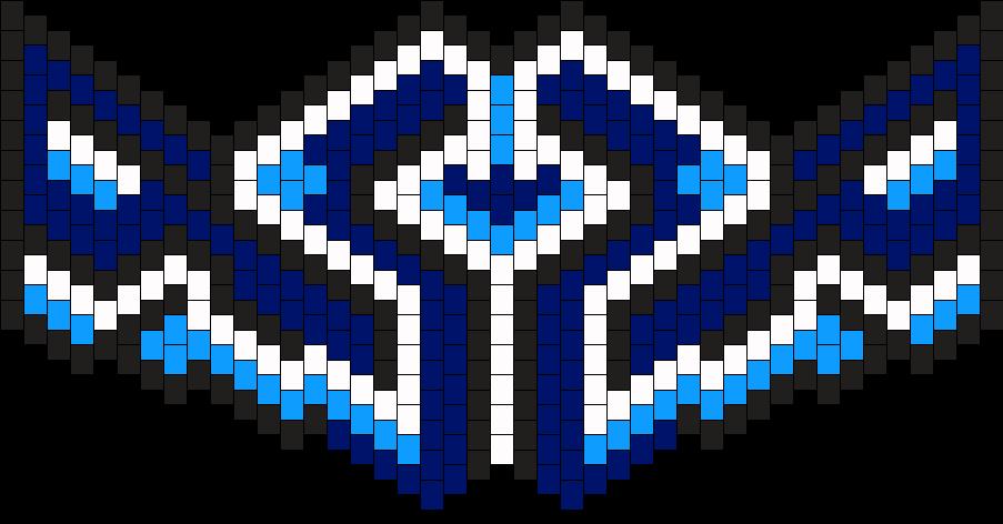 Blue X Mask