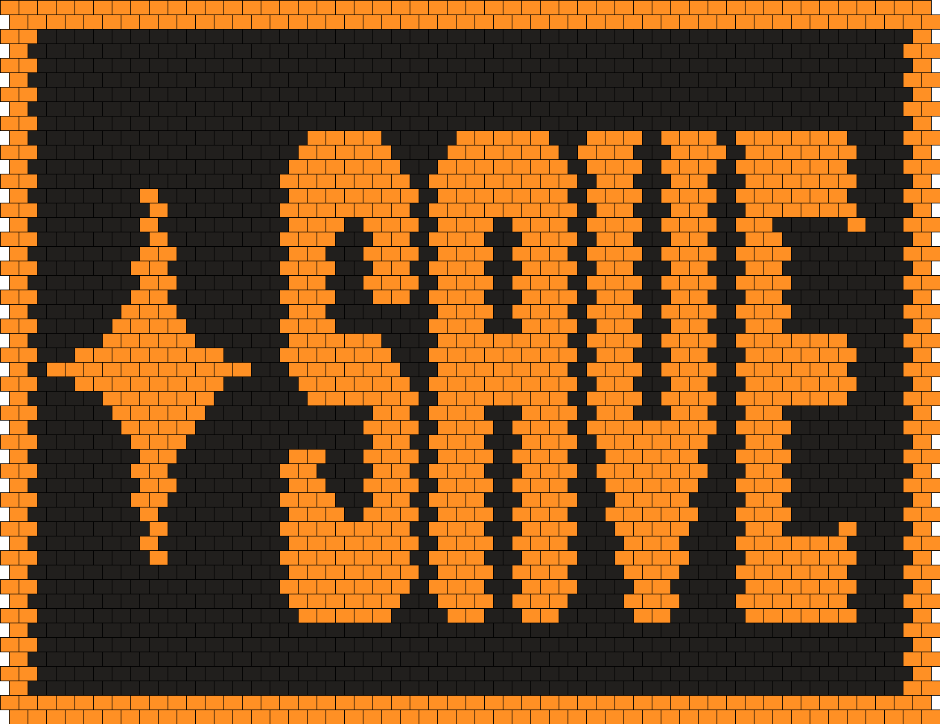 Undertale SAVE Button Bead Pattern