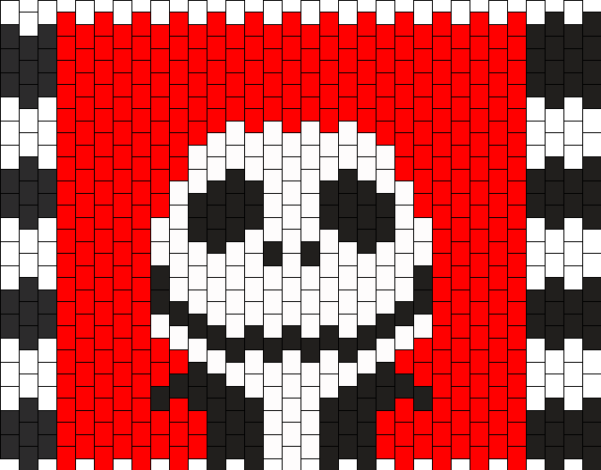 Jack Skellington Purse Pt1 Bead Pattern