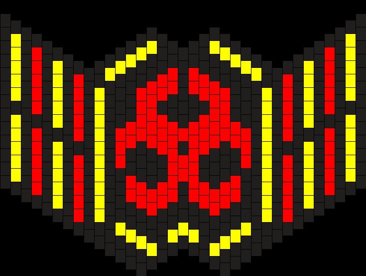 Large BioHazard Kandi Mask Bead Pattern