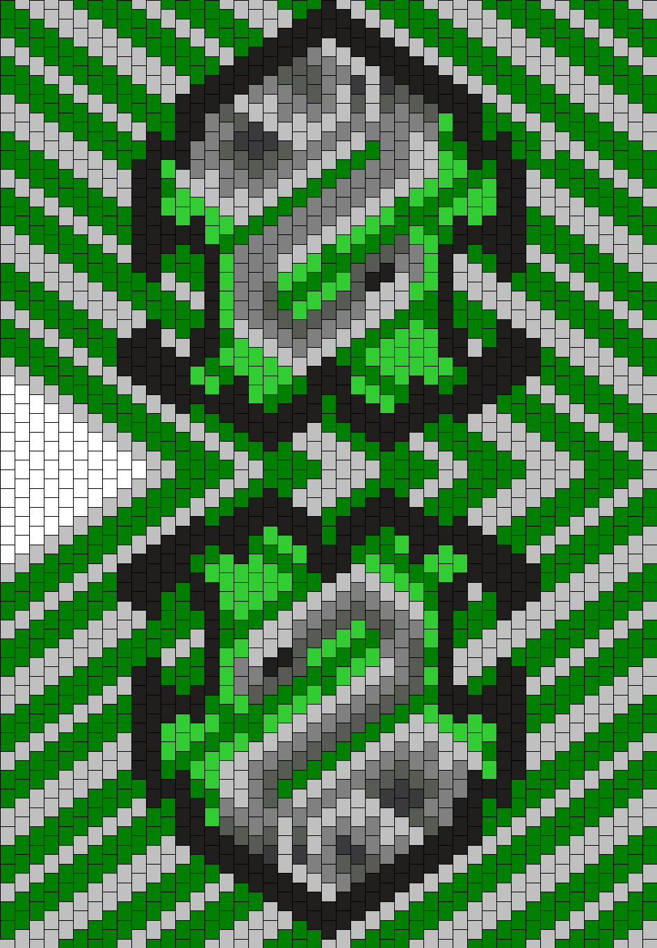 Slytherin Hood Bead Pattern