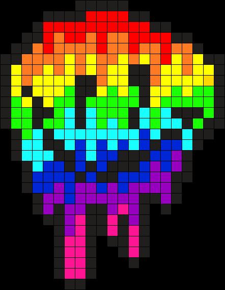 Rainbow Face Mely Perler