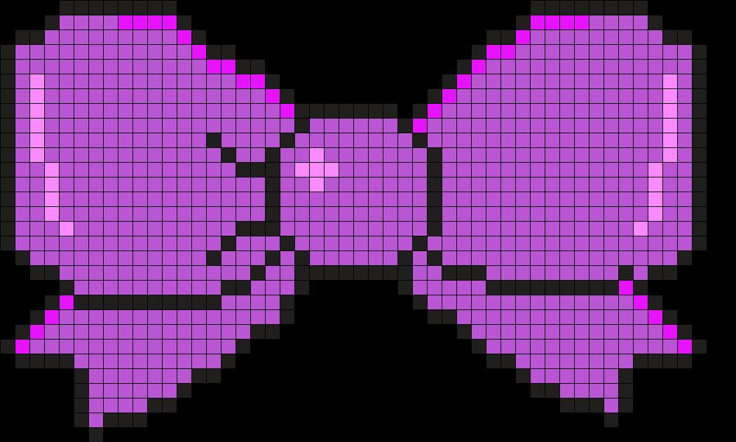Purple Bow Perler Bead Pattern / Bead Sprite