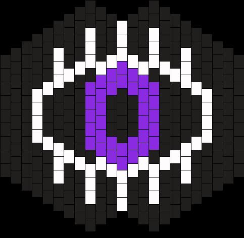 Black Eye Mask Bead Pattern