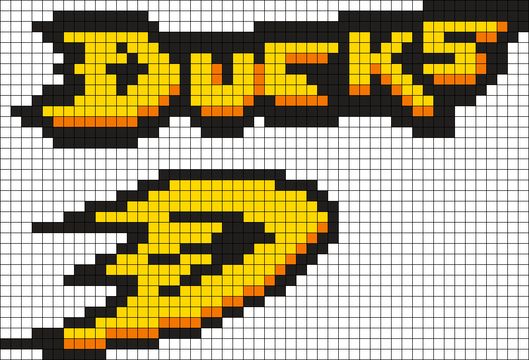 Anahiem Ducks Hockey Perler Bead Pattern / Bead Sprite