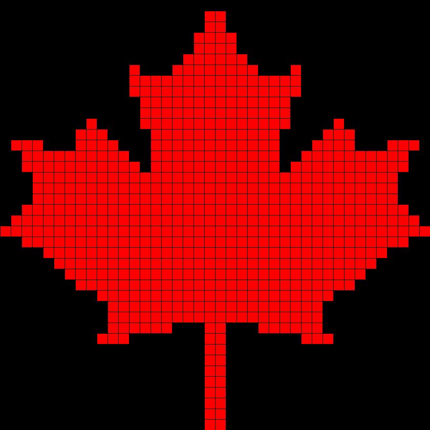 Canada Maple Leaf Perler Bead Pattern / Bead Sprite