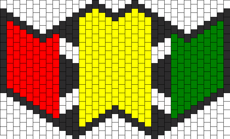 Rasta Submask Bead Pattern