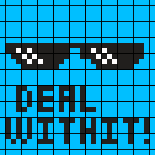 Deal With It MEME Perler Bead Pattern / Bead Sprite