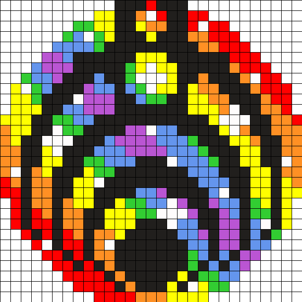 Stary Rainbow Bassnectar Perler Bead Medallion By Itsdylanc