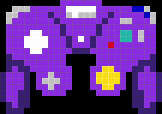 GameCube Controller Perler Bead Pattern / Bead Sprite