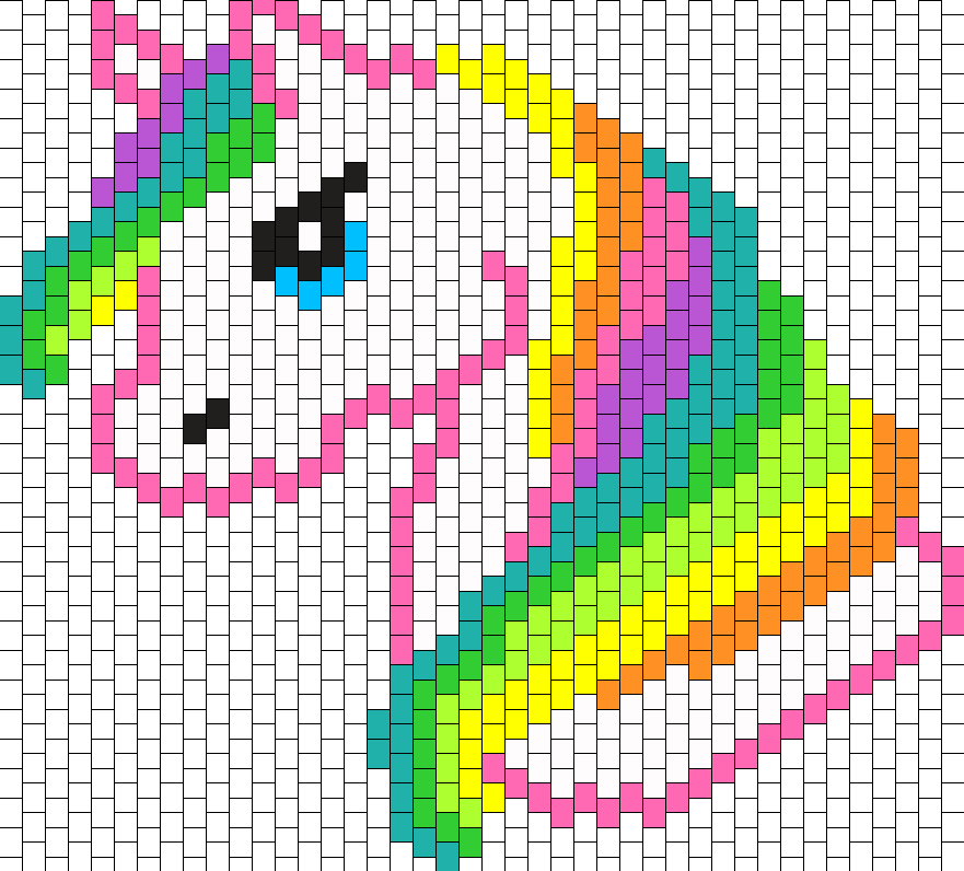 Unicorn Bag Panel Bead Pattern