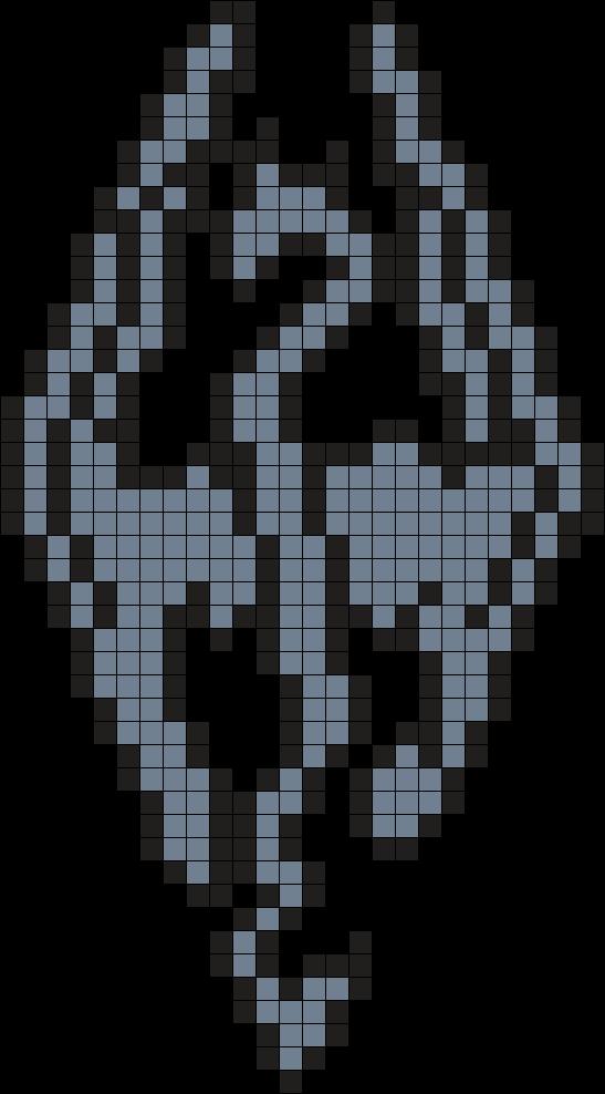 Skyrim Perler Bead Pattern / Bead Sprite